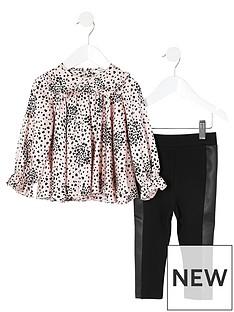 river-island-mini-mini-girls-blouse-and-elgging-set-pinkblack
