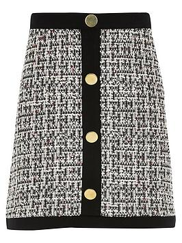 river-island-girls-monochrome-button-front-skirt-black