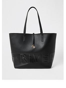 river-island-river-island-embossed-shopper-tote-black