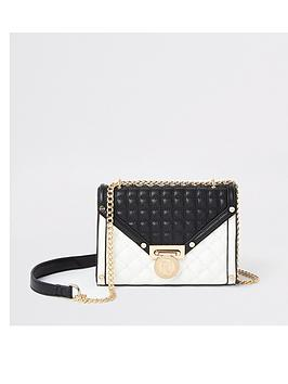 river-island-river-island-monochrome-quilted-bag-black