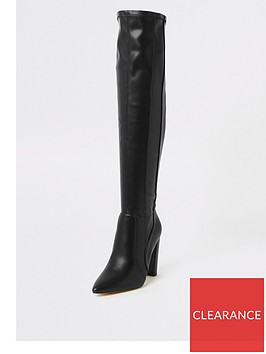 river-island-river-island-wide-fit-over-the-knee-western-boot-black