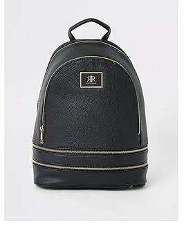 river-island-zip-around-backpack-black