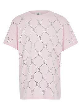 river-island-girls-ri-diamnte-monogram-t-shirt-pink