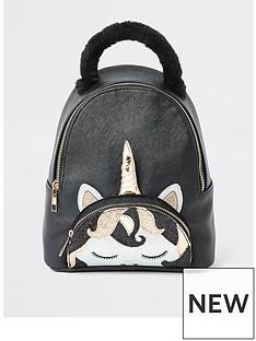 river-island-girls-unicorn-backpack-black
