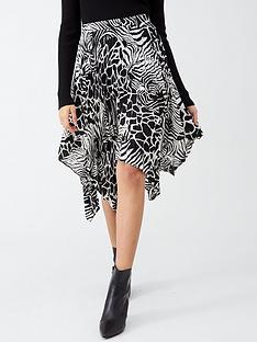 v-by-very-monochrome-asymmetric-pleated-skirt-print