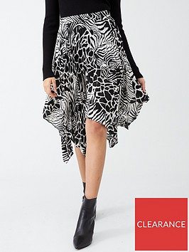 v-by-very-monochrome-asymmetric-pleated-skirt-print