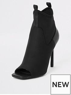 river-island-river-island-scuba-sock-heeled-shoe-boot-black
