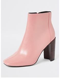 river-island-river-island-patent-square-toe-heel-boots-pink