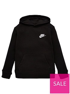 nike-sportswear-younger-childs-club-overhead-hoodie-black