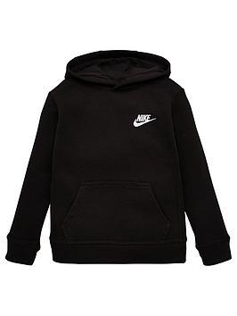 nike-sportswear-younger-childs-club-overhead-hoodie-black