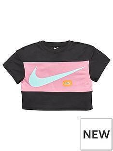 nike-younger-girls-cropped-training-t-shirt-black