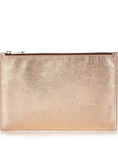aspinal-of-london-essential-large-flat-metallic-pouchnbsp--rose-gold