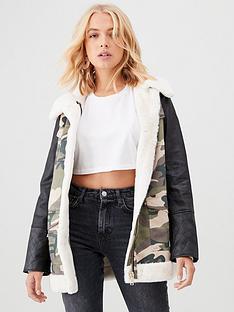 river-island-river-island-pu-sleeve-hybrid-camo-utility-jacket-khaki