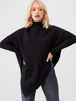 river-island-cape-knitted-jumper-black