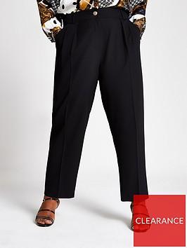 ri-plus-peg-leg-trousers-black