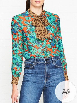 lk-bennett-wylie-mixed-print-tie-neck-blouse-multi