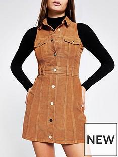 river-island-sleeveless-cord-dress-tan