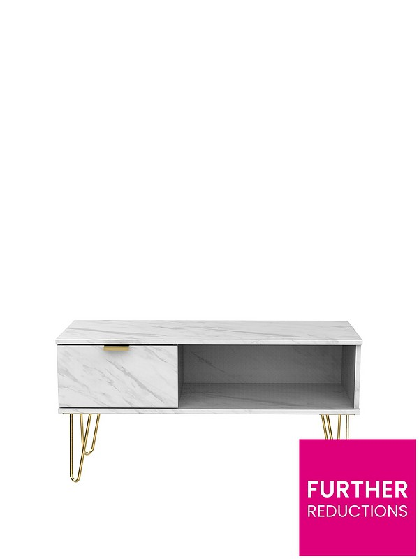Marbella Ready Assembled Marble Effect Coffee Table