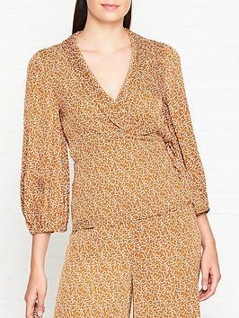 lk-bennett-zazou-tie-waist-print-blouse-brown