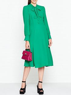lk-bennett-mortimer-pussy-bow-midi-dress-green