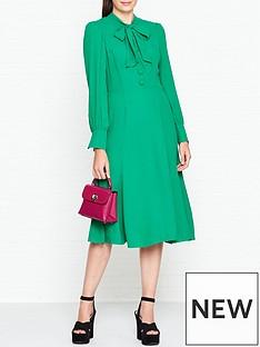 lk-bennett-mortimer-pussy-bow-midi-dress-green