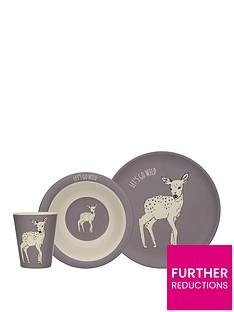 kitchencraft-nbspinto-the-wild-little-explorers-deer-3-piece-kids-dining-set