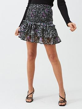 v-by-very-shirred-frill-mini-skirt-floral