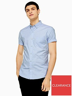 topman-short-sleeve-stretch-oxford-shirt
