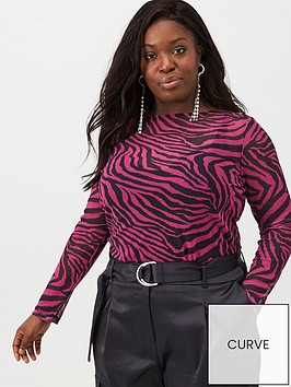 v-by-very-curve-zebra-mesh-top-pink