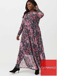 v-by-very-curve-mesh-maxi-dress-floral-printnbsp
