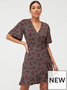 v-by-very-frill-wrap-mini-dress-ditsy-print