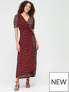 v-by-very-mixed-print-wrap-dress-rust-floralnbsp
