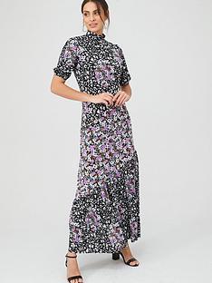 v-by-very-mixed-print-asymmetric-seam-midi-dress-purplenbsp