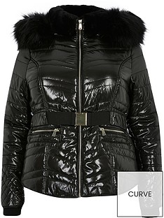 ri-plus-high-shine-padded-jacket-black