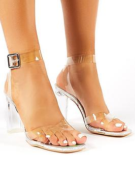 public-desire-talk-heeled-sandals-silver