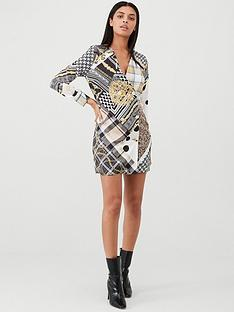 river-island-river-island-scarf-print-shirt-dress--brown