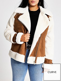 ri-plus-ri-plus-faux-fur-borg-aviator-jacket-tan