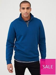 v-by-very-quarter-zip-funnel-neck-deep-blue
