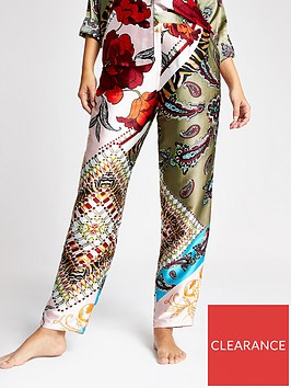 river-island-river-island-printed-satin-pyjama-trousers-khaki