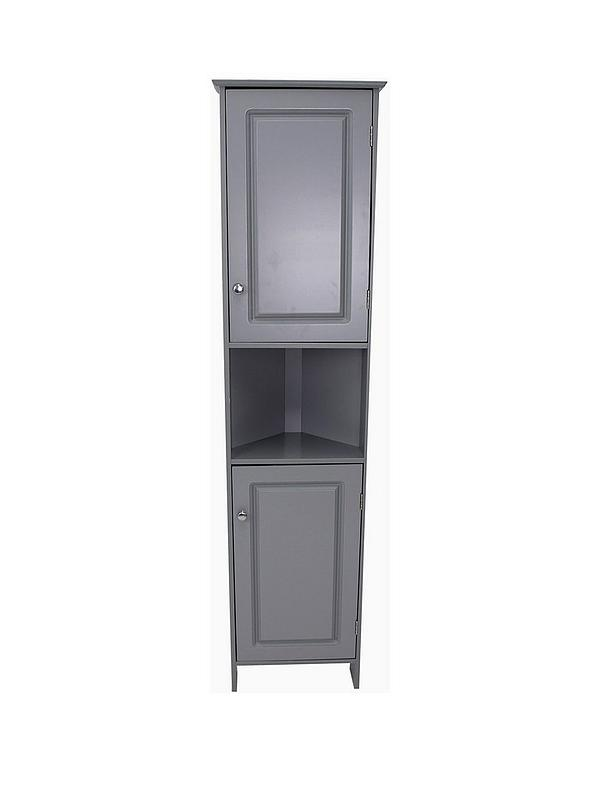 Lloyd Pascal Devonshire Tall Corner Bathroom Cabinet Painted Grey Very Co Uk