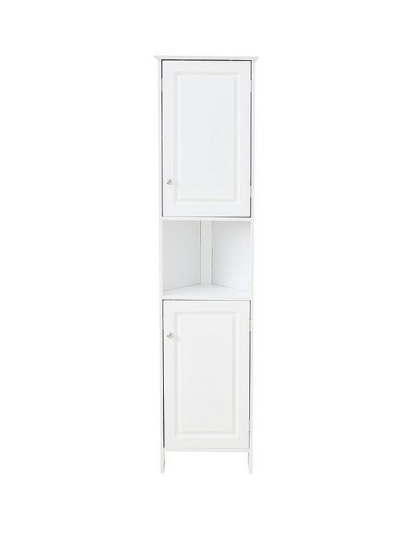 Lloyd Pascal Devonshire Tall Corner Bathroom Cabinet White Very Co Uk