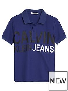 calvin-klein-jeans-boys-stamp-logo-short-sleeve-polo-top-blue