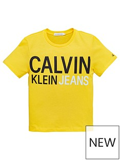 calvin-klein-jeans-boys-stamp-logo-short-sleeve-t-shirt-yellow