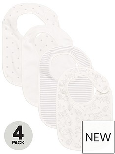v-by-very-baby-unisex-4-pack-woodland-dot-stripe-and-plain-bibs-multi