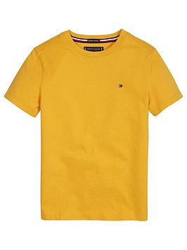 tommy-hilfiger-boys-short-sleeve-essential-flag-t-shirt-yellow