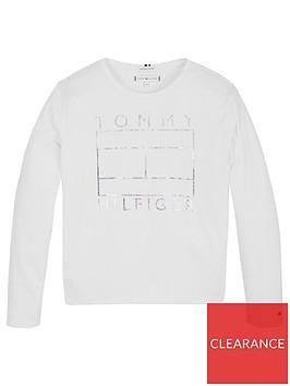 tommy-hilfiger-girls-long-sleeve-foil-flag-t-shirt-white