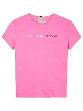 tommy-hilfiger-girls-short-sleeve-logo-t-shirt-bright-pink