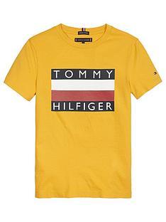 tommy-hilfiger-boys-short-sleeve-flag-t-shirt-yellow