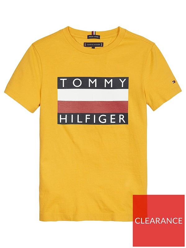 Tommy Hilfiger Boys Short Sleeve Tommy Flag T-Shirt
