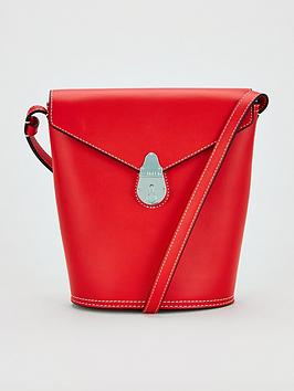 calvin-klein-leather-lock-small-bucket-bag-red
